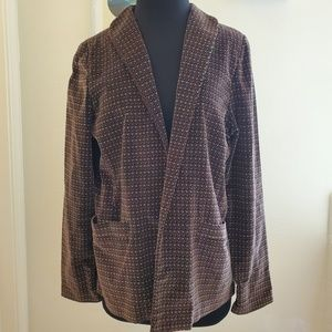 Vintage I. Magnin Velvet Open Front Blazer Size 12